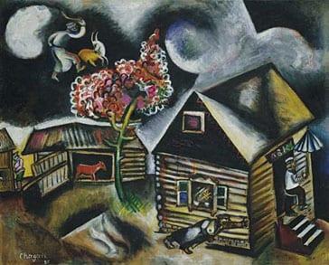 העיירה היהודית ואנשיה בציורי מארק שאגאל